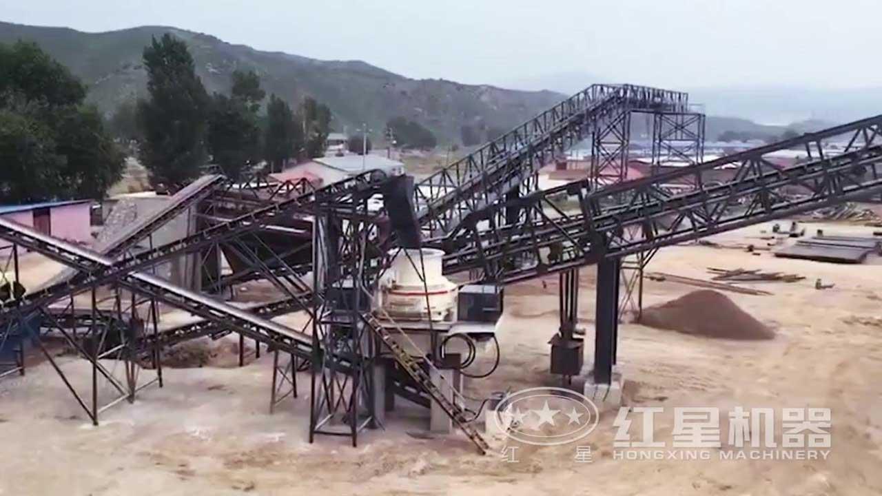 制砂生产线视频-河北客户作业现场