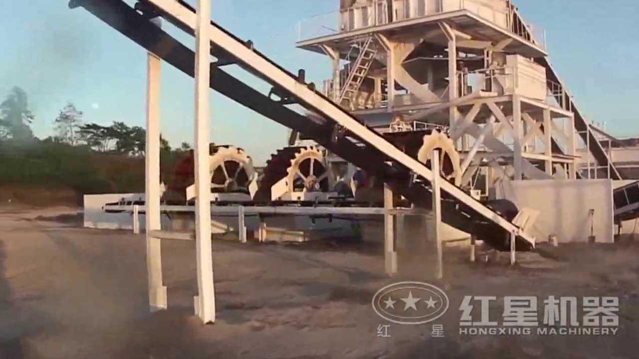 水洗沙生产线视频-广东客户现场