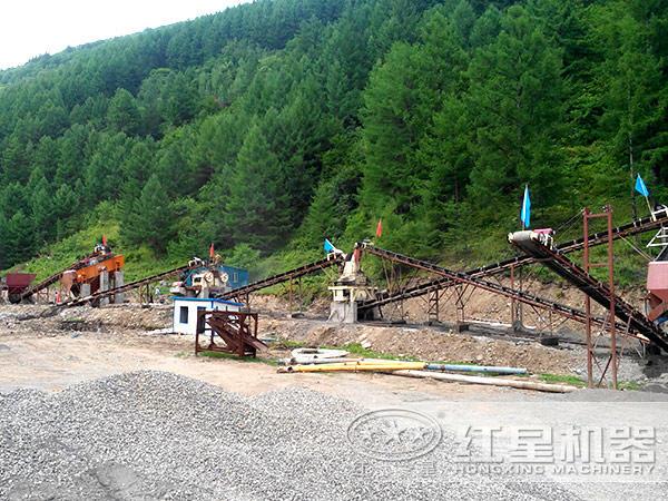 四川时产100吨制砂生产线