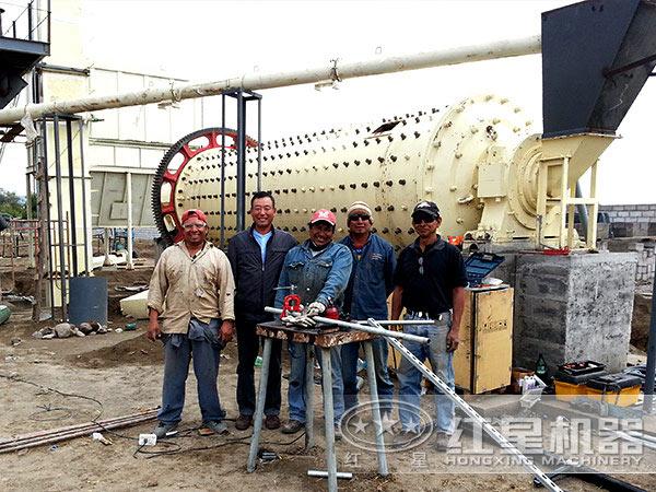 每小时6-8吨400目陶瓷球磨机用户生产现场