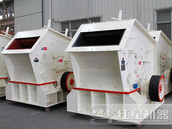 煤矸石反击式破碎机设备实拍
