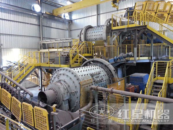 铁矿球磨机现场图