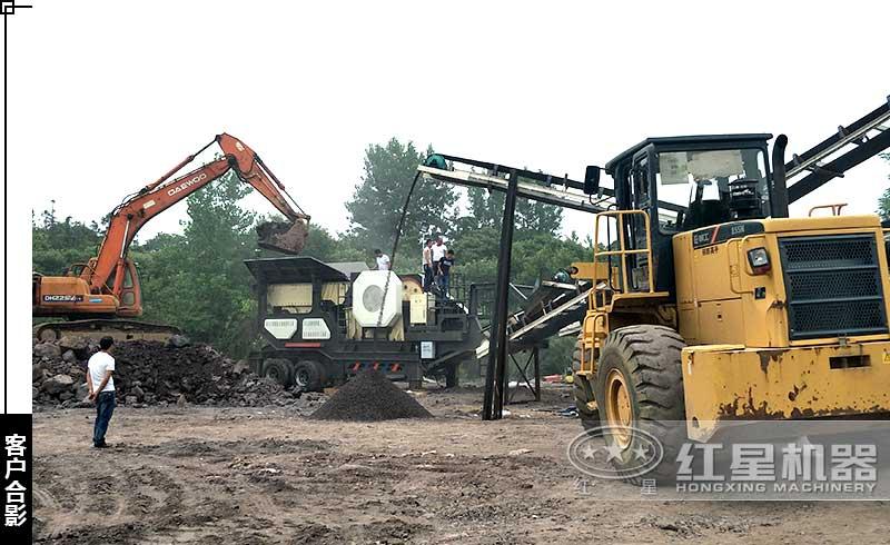 甘肃用户碎煤生产现场