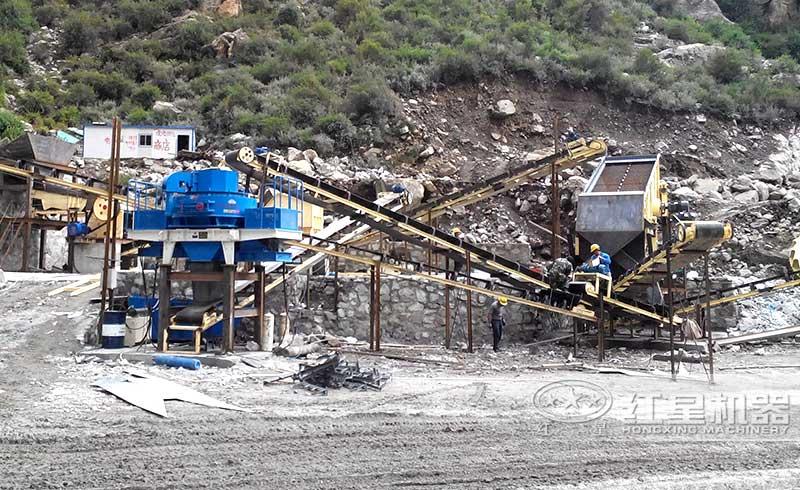 山西制砂生产线现场实拍图