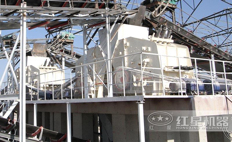 PF1010反击式破碎机用户施工现场
