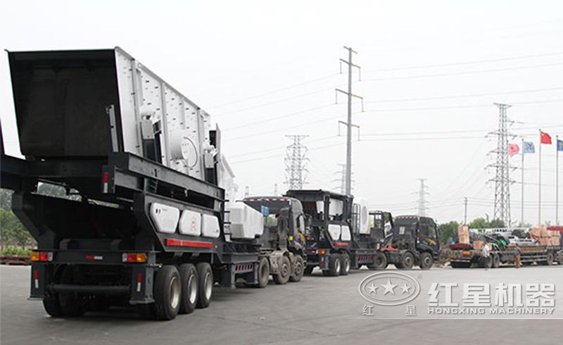 轮胎式移动制砂机发往贵州