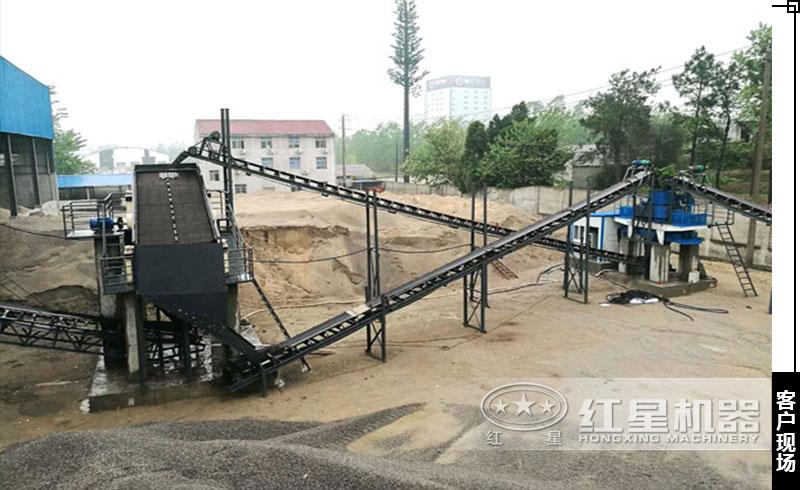 鹅卵石制砂机用户生产现场