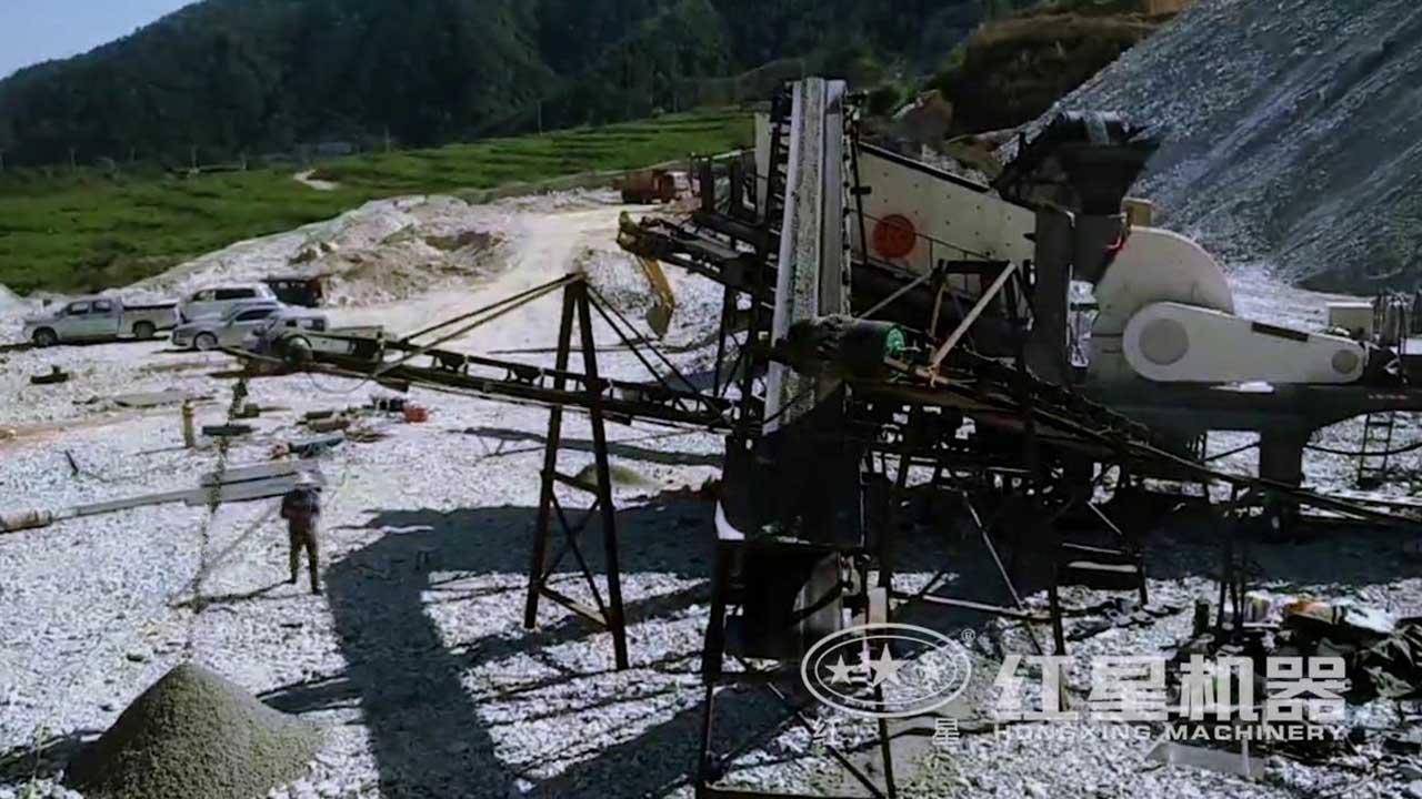移动式重锤破碎机现场作业视频