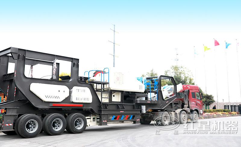 日产1000吨车载式流动碎石机发货