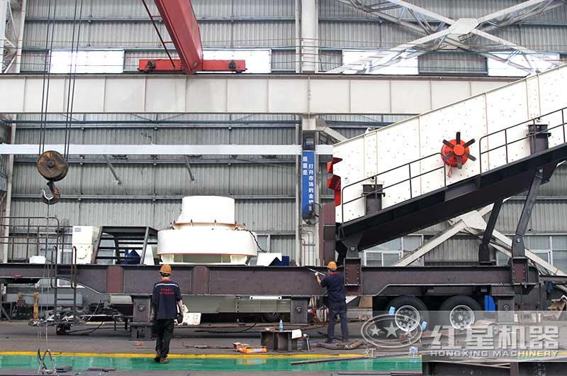 时产300吨花岗岩移动制砂机