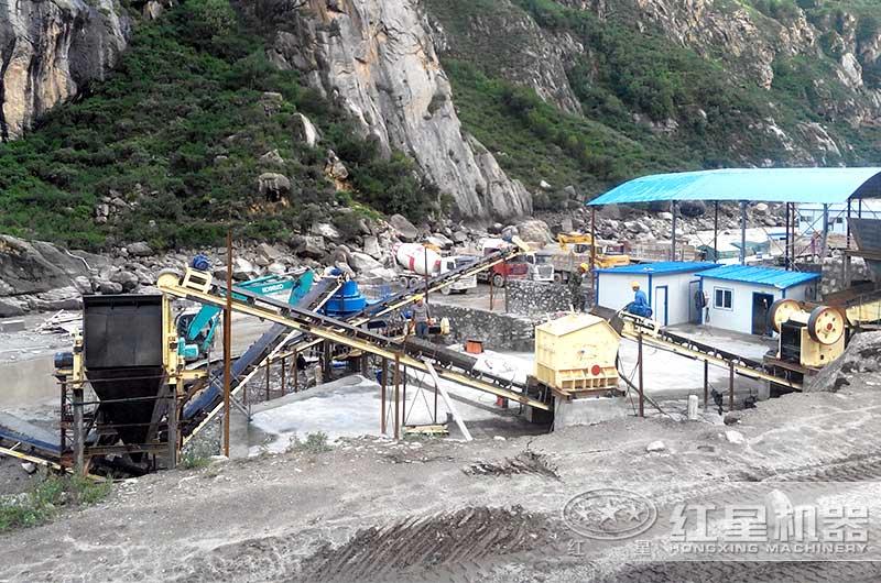 时产120-150吨鹅卵石破碎制砂生产线