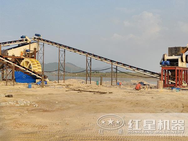 时产40吨花岗岩制砂生产现场