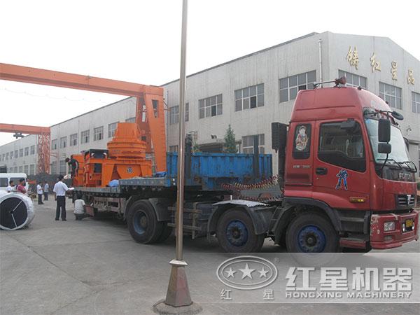 HX-09小型冲击式破碎机发往陕西