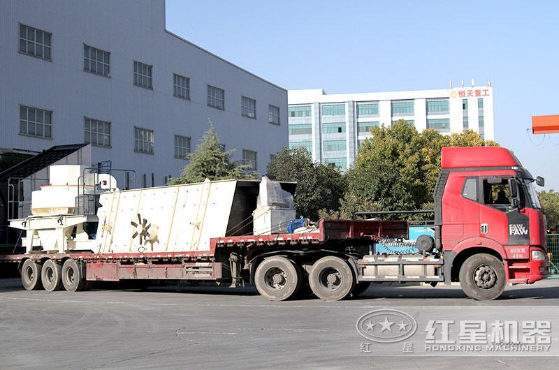一条鹅卵石制砂生产线设备发往广西