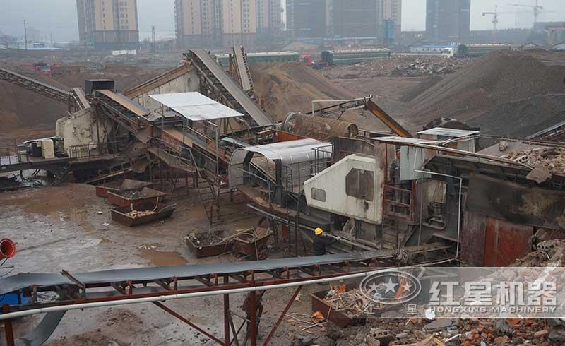 湖南株洲建筑垃圾处理现场