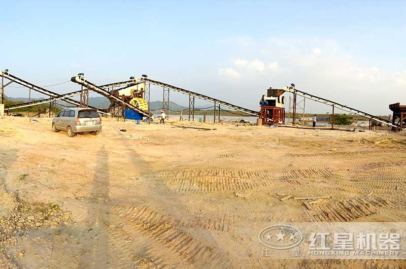 时产50吨机制砂生产线现场图