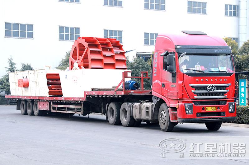 山沙洗砂机准备发往广东