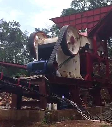 印尼时产150吨河石破碎生产线现场