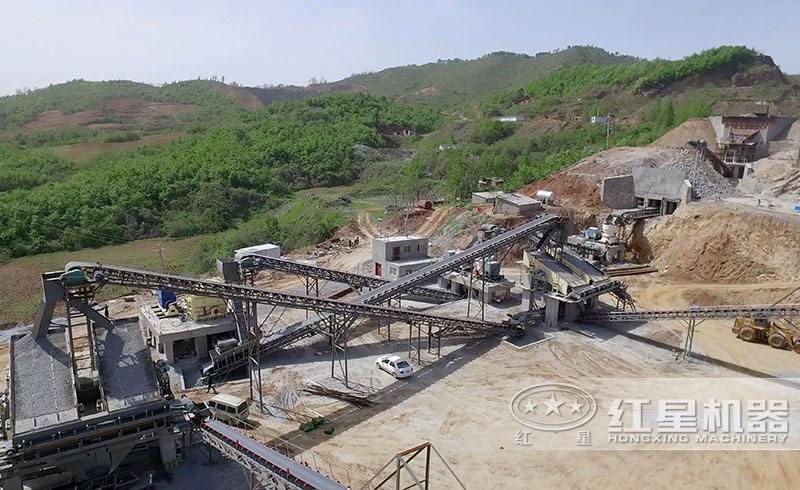 南阳时产800吨石子生产线现场