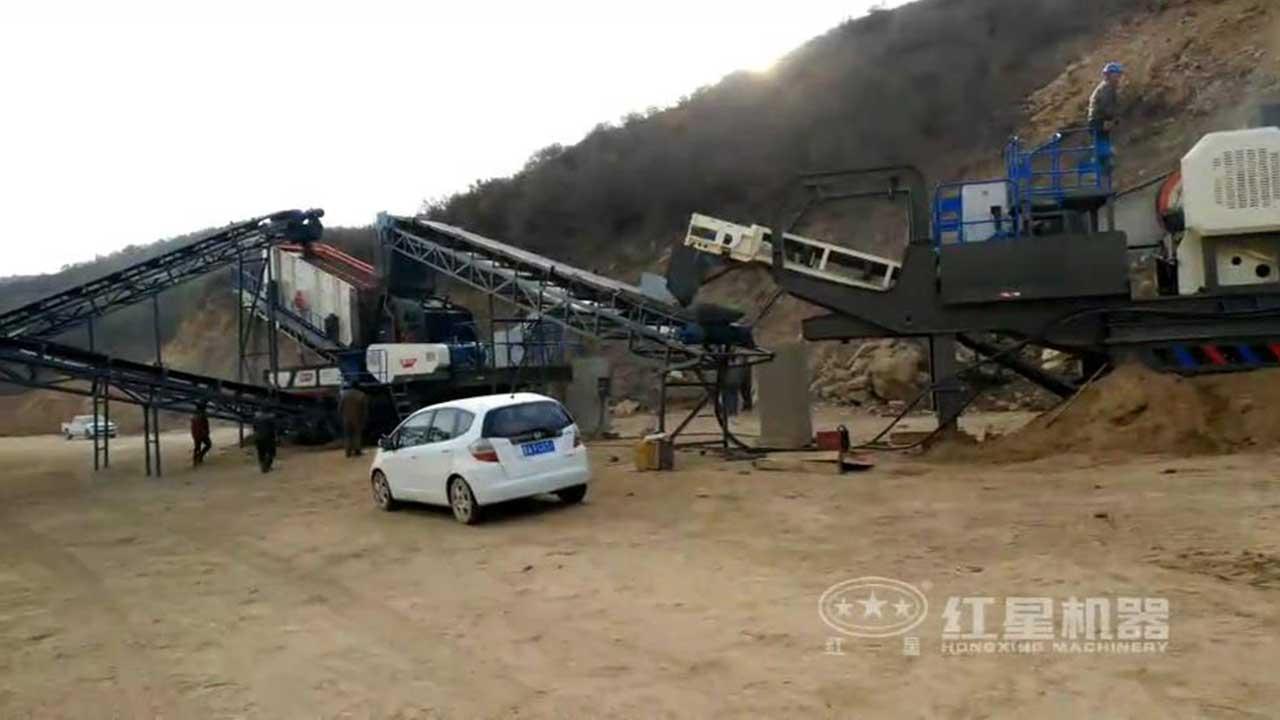 流动石子破碎机视频-广东客户现场
