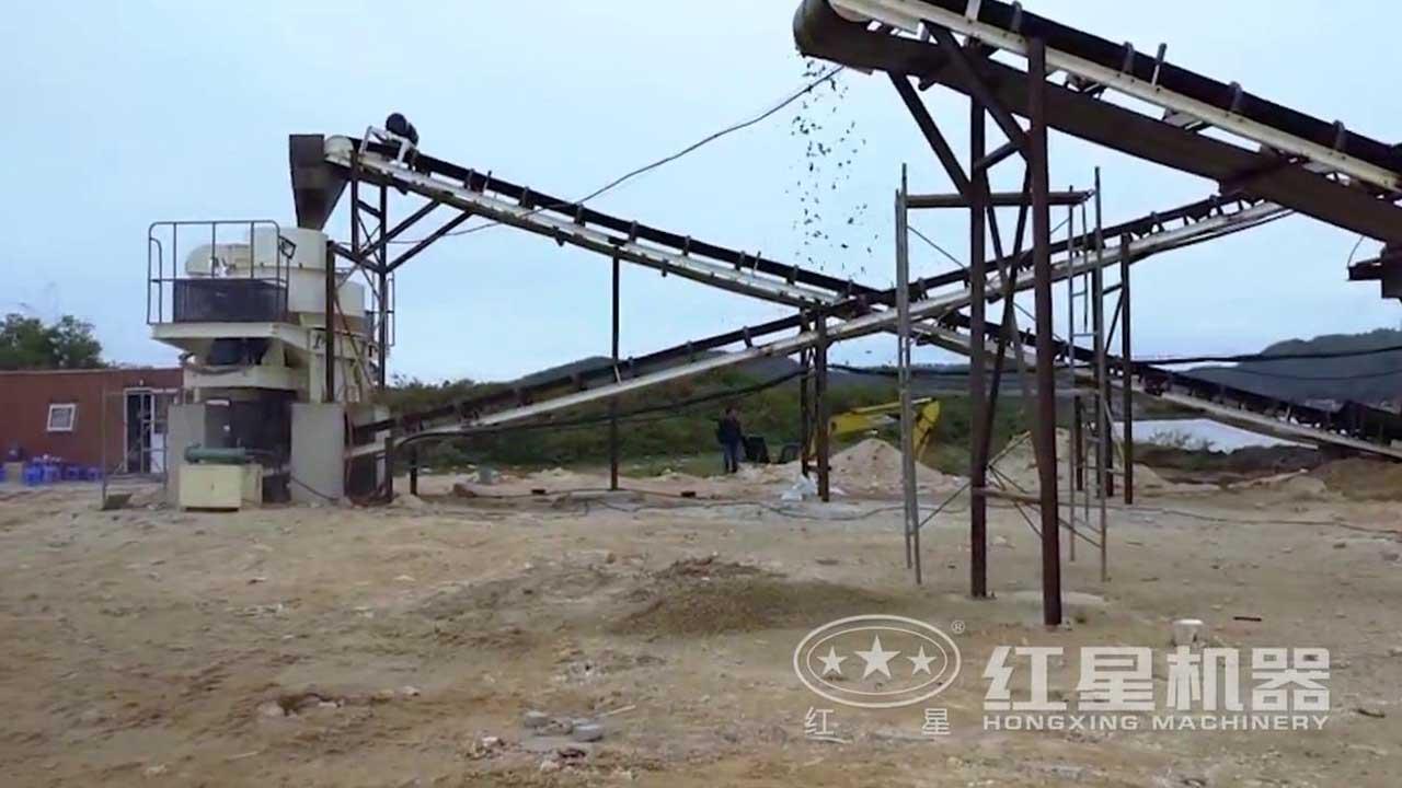 制沙生产线作业视频-越南客户现场