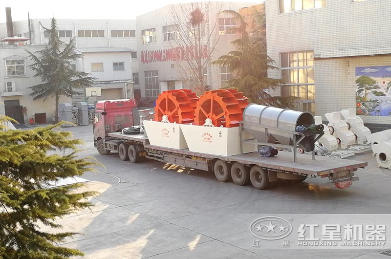 洗沙机设备发往浙江