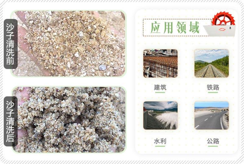 沙子清洗前后对比图
