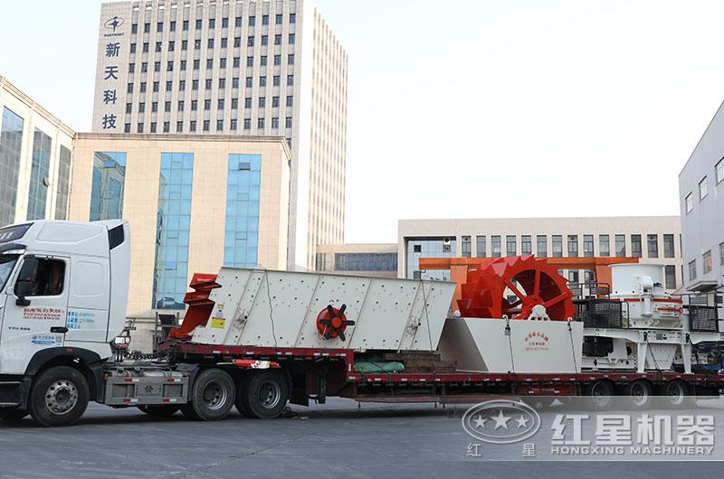 全套机制砂生产线设备发往江苏
