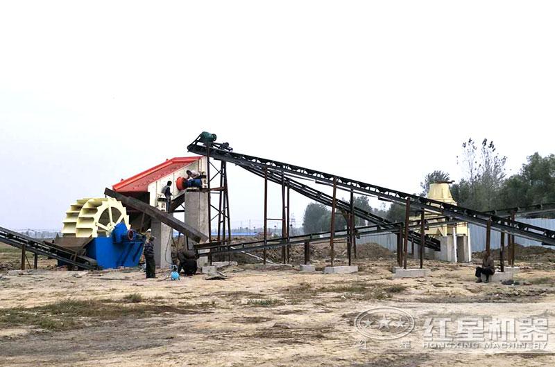 河南客户小型打沙厂准备投产使用