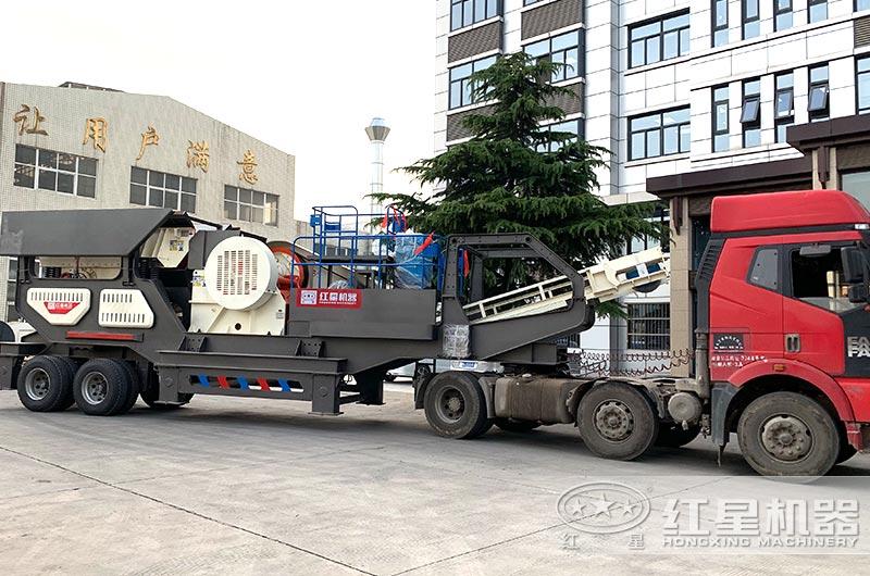 移动式建筑垃圾处理设备直接开往客户现场