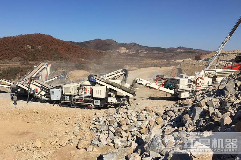 山东大型建筑垃圾破碎机现场实拍图