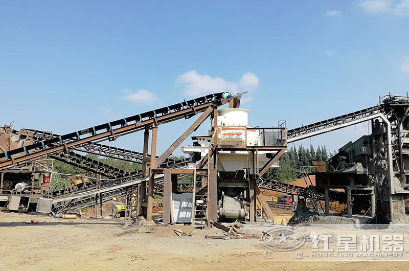 湖南客户制砂机生产线