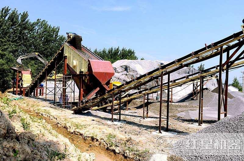 一小时产50吨小型砂石粉碎机