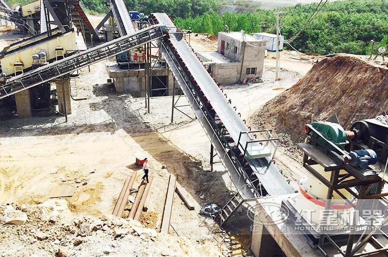 山西砂石料制砂生产线现场