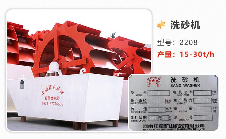 图1:石粉洗砂机设备图片-2208型号、单轮