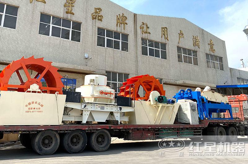 全套花岗岩制砂机生产线设备发货