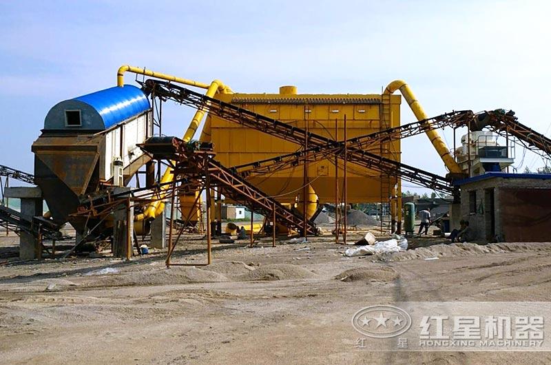 时产50吨小型干式制砂机生产线