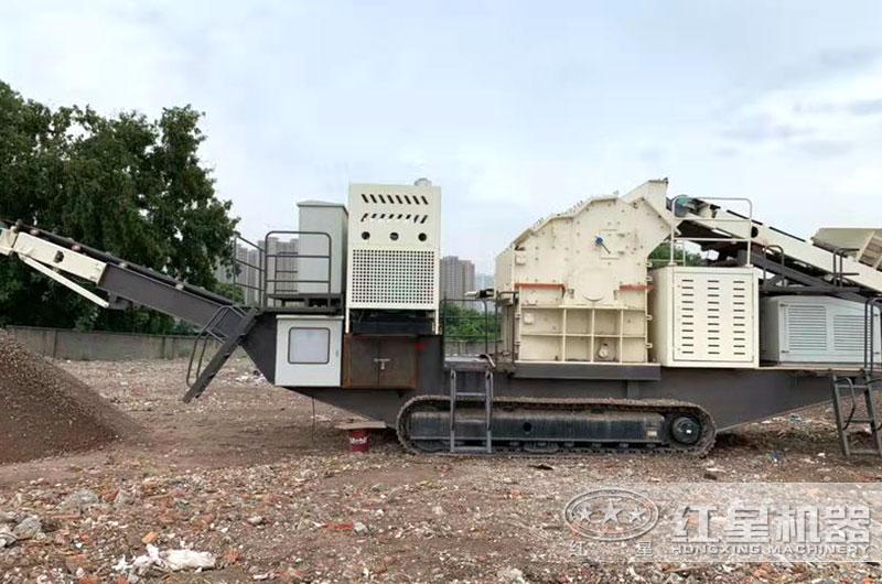 履带式移动建筑垃圾制砂机