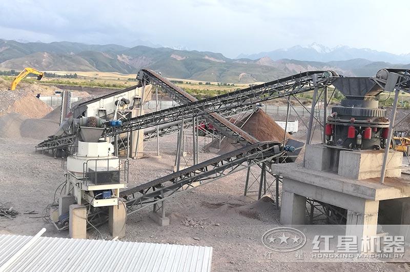 制砂机生产线实拍图