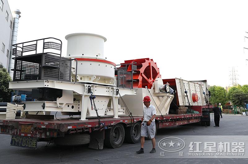 又一台碎石制砂机设备发往江苏
