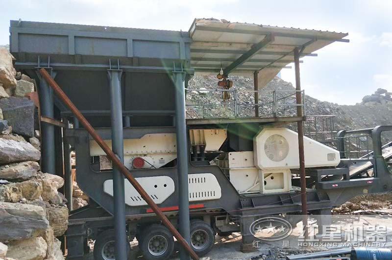 处理建筑垃圾、时产100吨以上的移动颚破