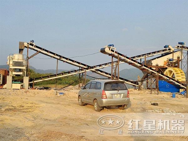 时产40吨花岗岩制砂生产线