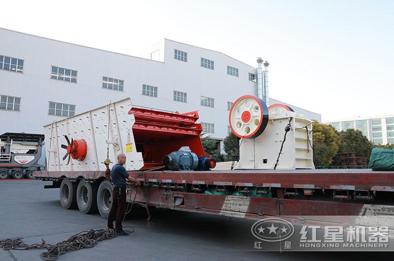 日产200吨小型碎石机设备发货