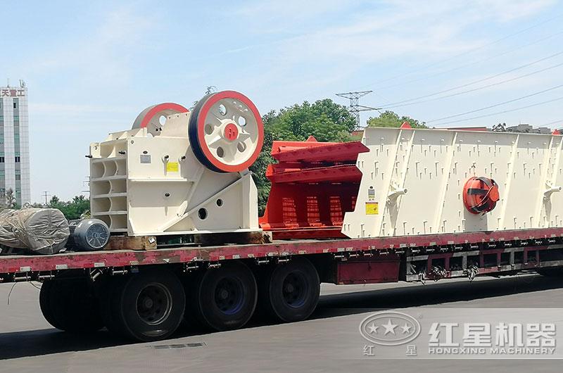 每天产200吨的颚式破碎机发货了