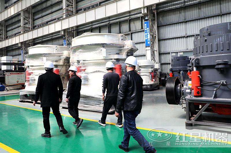 客户到红星设备生产车间参观