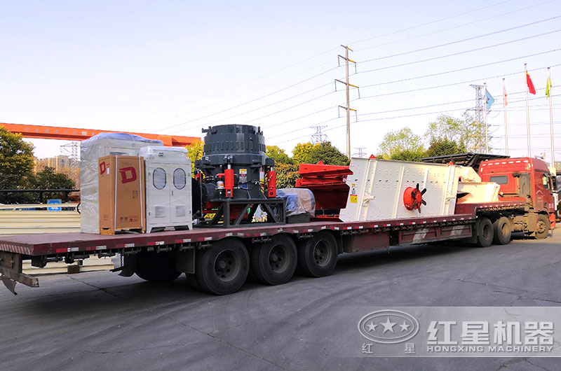 大型碎石生产线设备发货出厂,运往河南周口