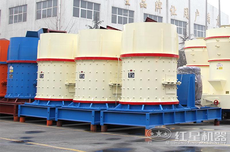 时产50吨复合式制砂机出料产品呈立方体
