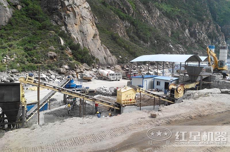 石子生产线时产200吨现场,让您一睹风采!