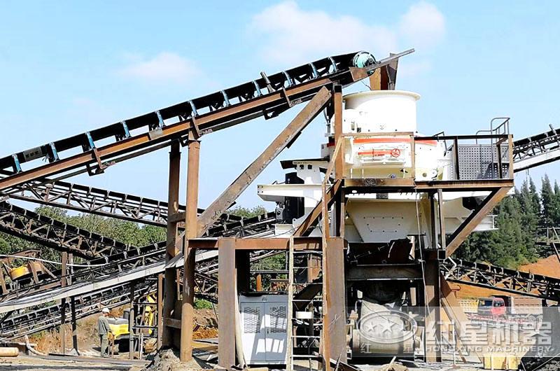 每小时200吨制砂机现场应用图片