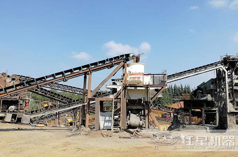 时产300吨机制砂生产线现场情况